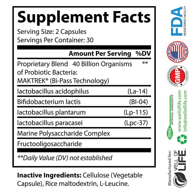 FACTS Probiotic 40 Billion CFU