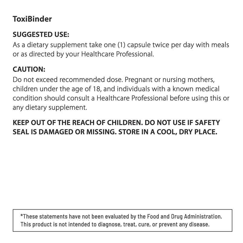 SUGGESTED USE ToxiBinder